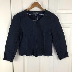 Lucky Brand Blazer Jacket XS Fringe Blue